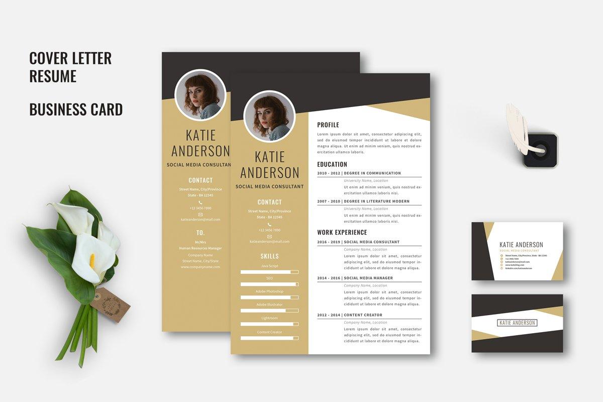 Midaz - Creative CV Resume Set example image 1
