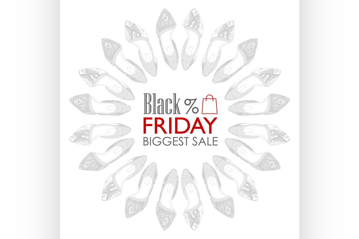 Black friday shoes sale example image 1