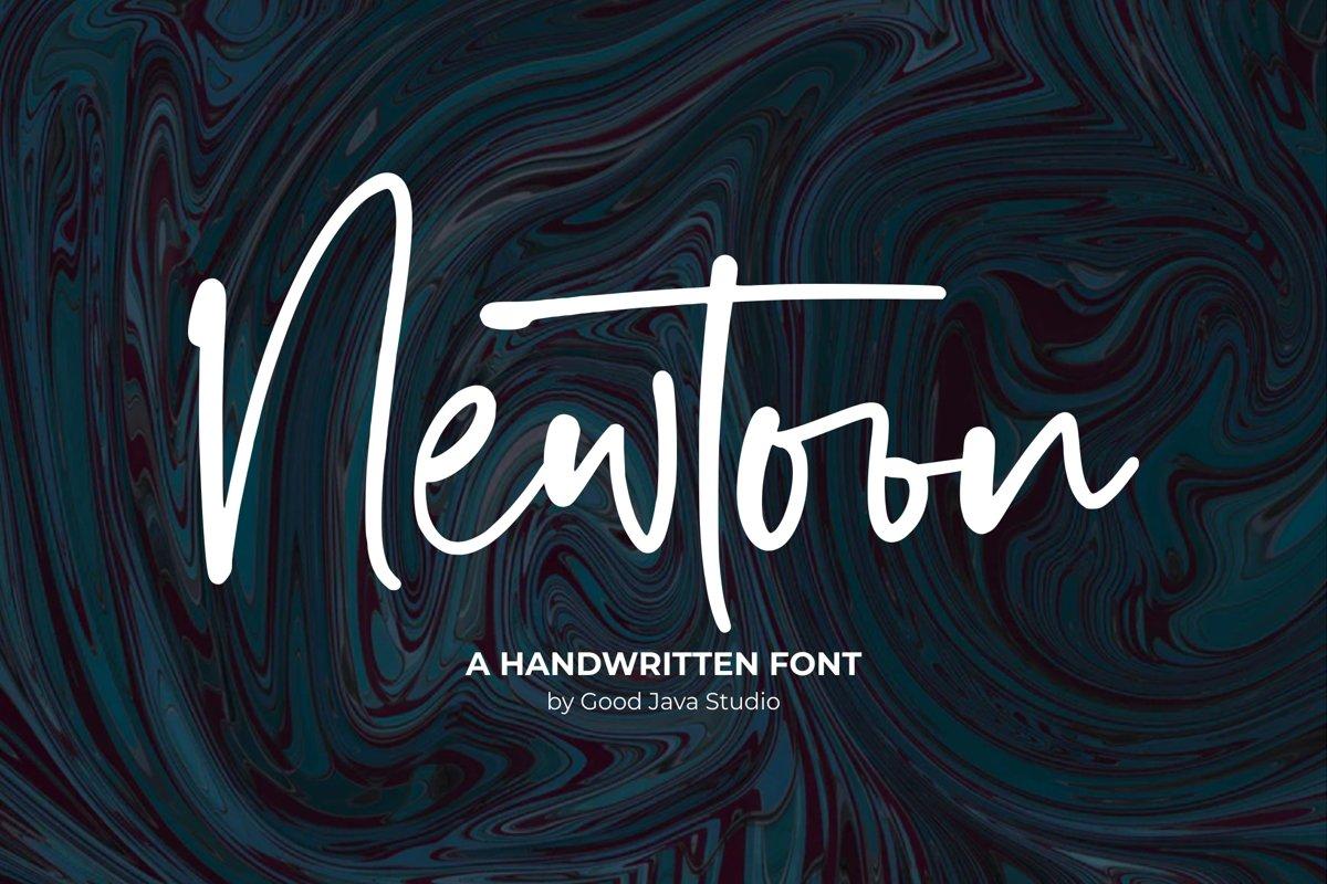 Newtoon - Handwritten Font example image 1