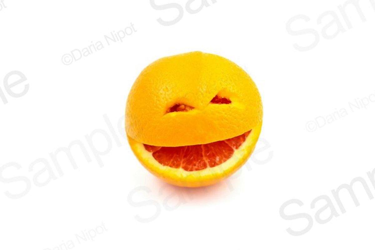 Smiling orange fruit example image 1