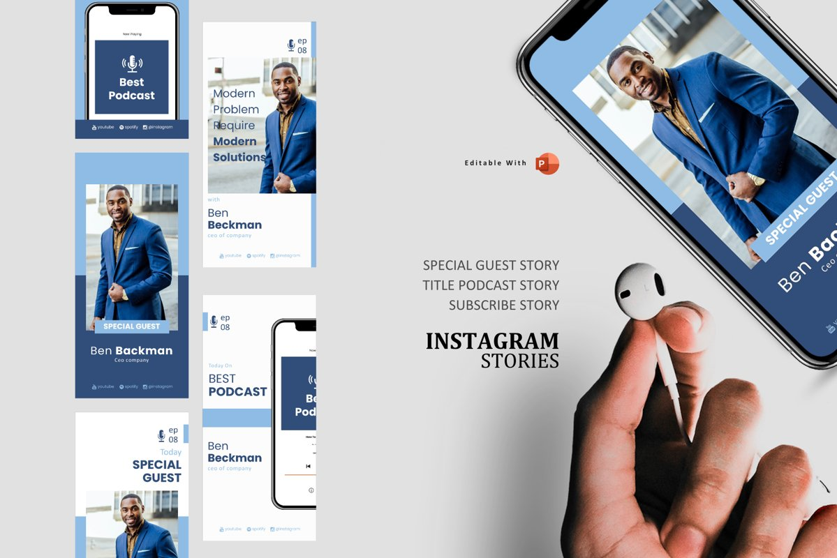 Podcast Instagram Stories and Post - Business Managing example image 1