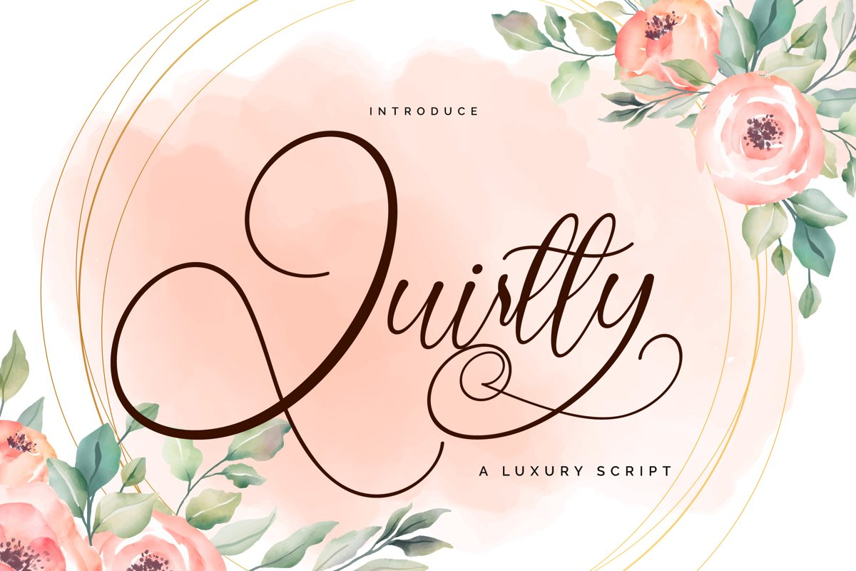 Quirtty   A Luxury Script Font example image 1