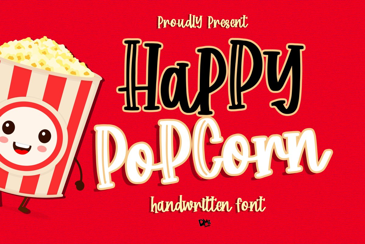 Happy Popcorn - Handwritten Font example image 1