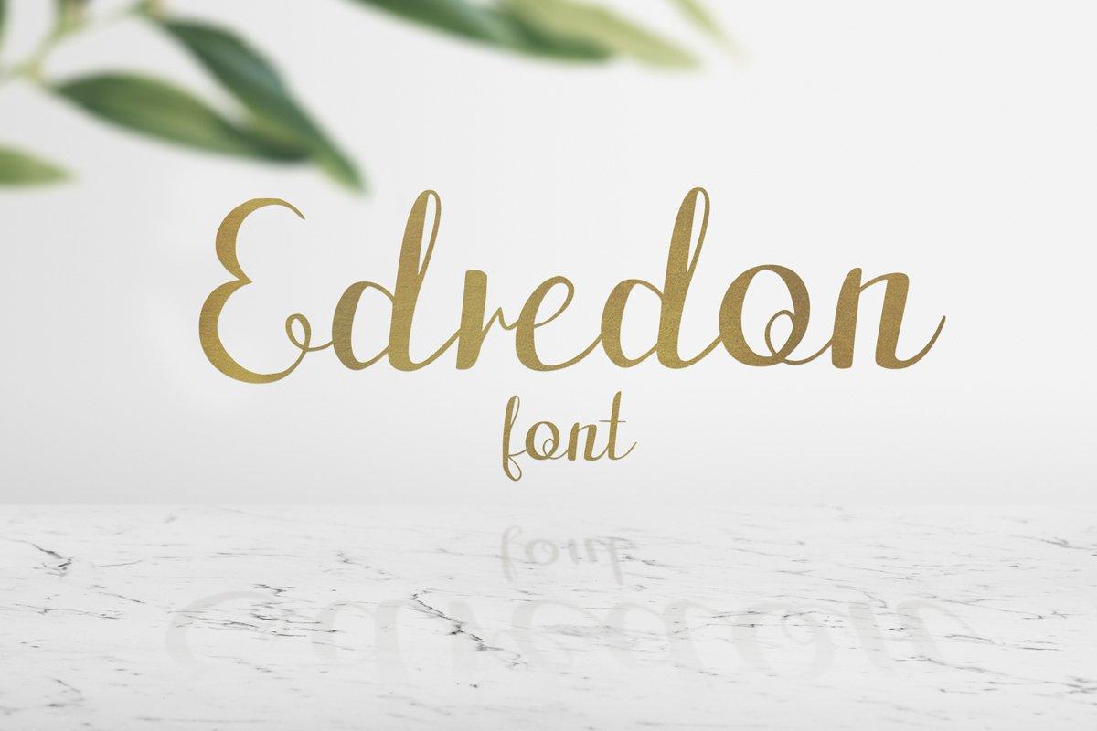 Edredon Font example image 1
