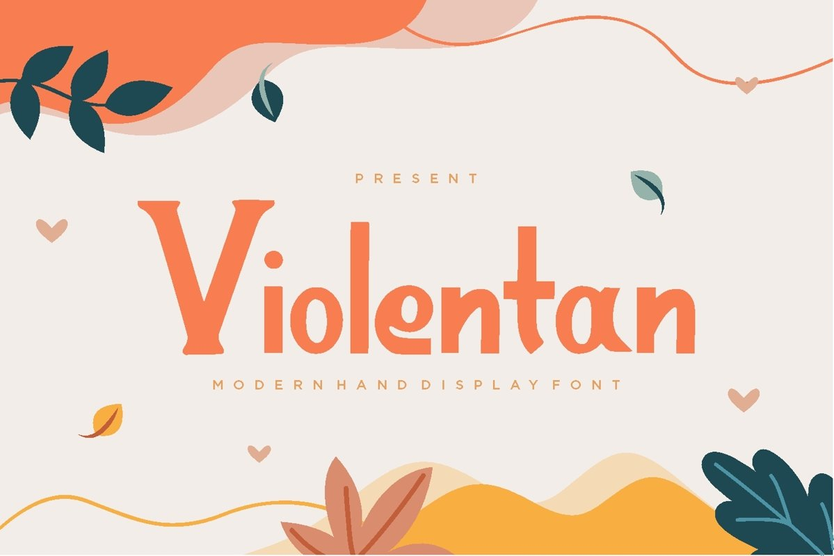 Violentan - Modern Display Font example image 1