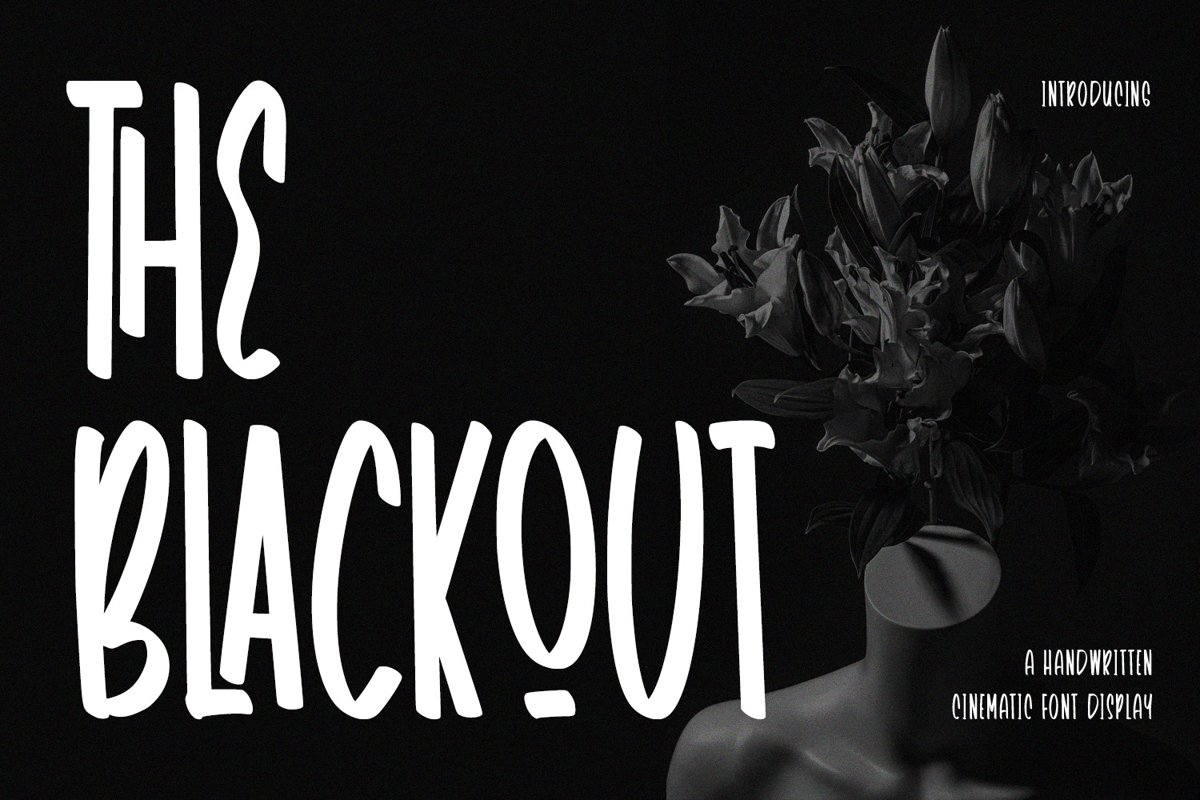 TheBlackout - Cinematic Display Font example image 1