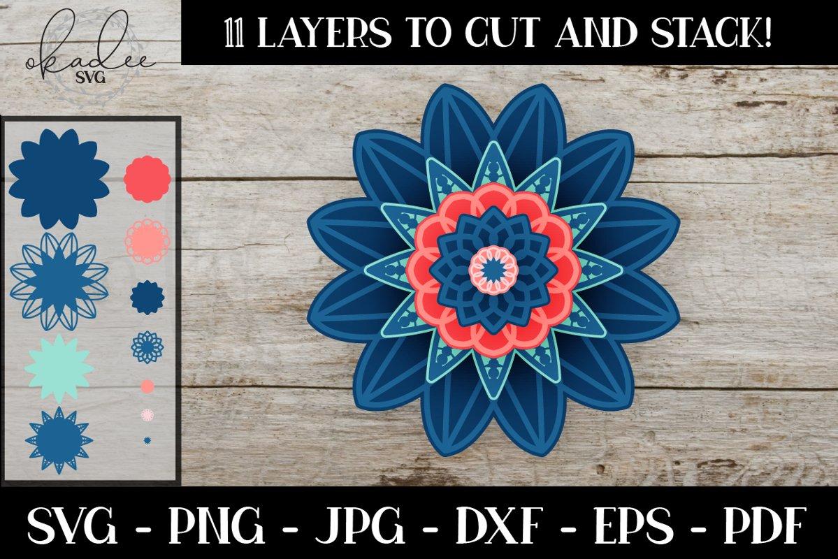 Download 3D Layered Mandala SVG, Cut File, Mandala SVG, Wall Art ...