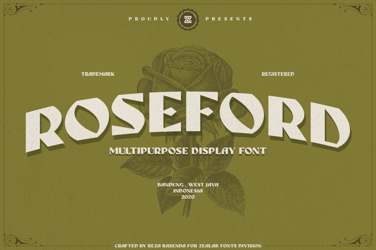 ROSEFORD - MULTIPURPOSE VINTAGE DISPLAY FONT example image 1