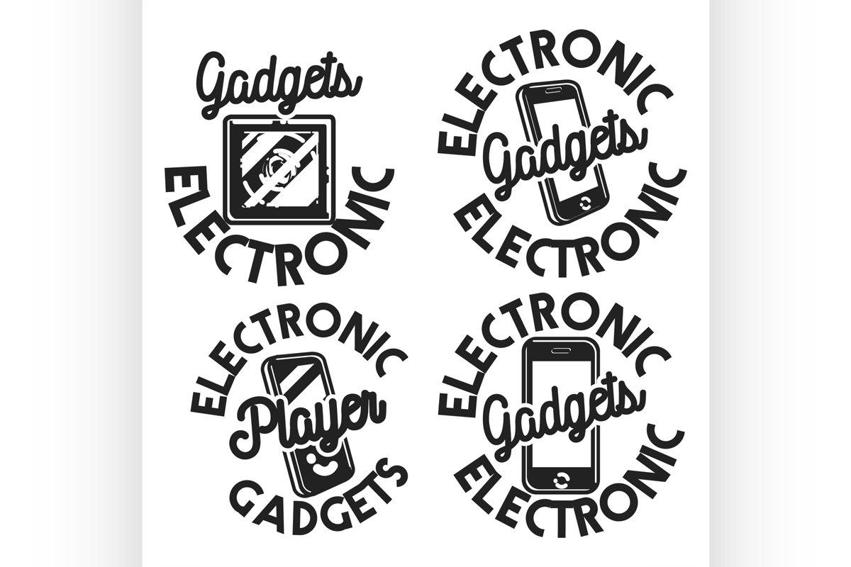 Vintage electronic gadgets emblems example image 1