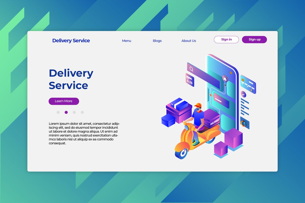 Delivery Service - Hero Header & Landing Page example image 1