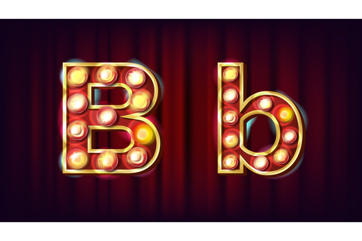 B Letter Vector. Capital example image 1