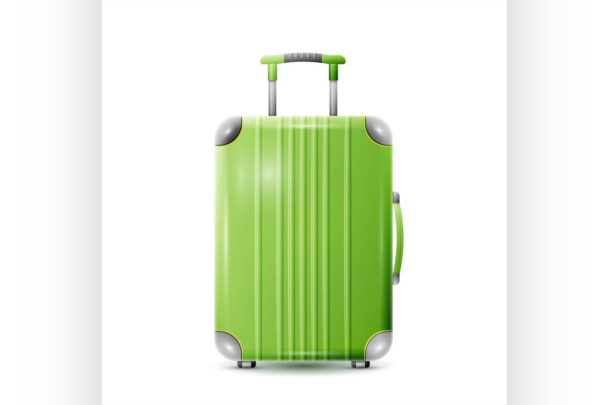 Large polycarbonate suitcase example image 1