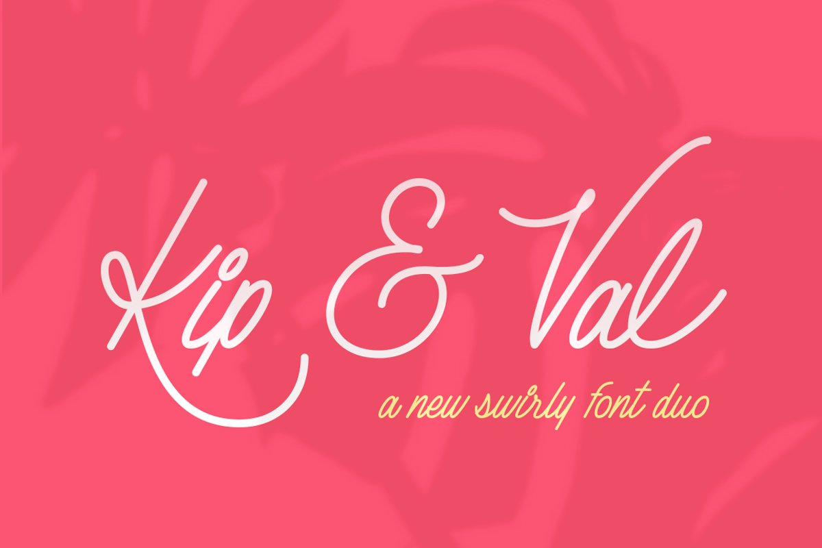 Kip & Val Script Font Duo example image 1