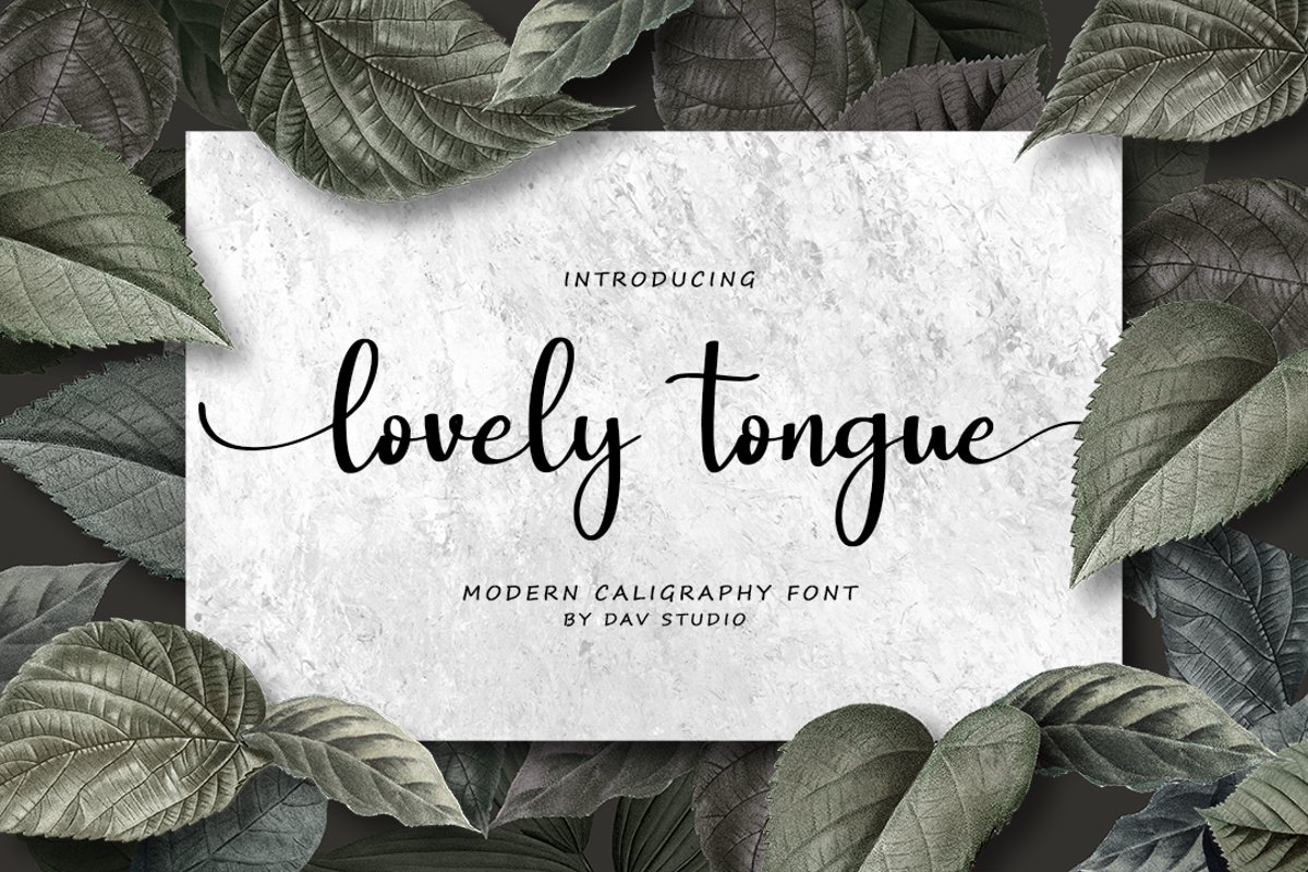 lovely tongue - Modern Calligraphy example image 1