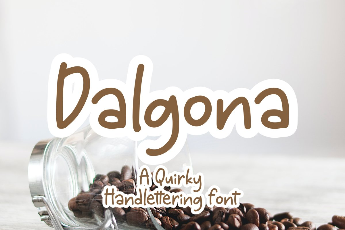 Dalgona - Handlettering Font example image 1