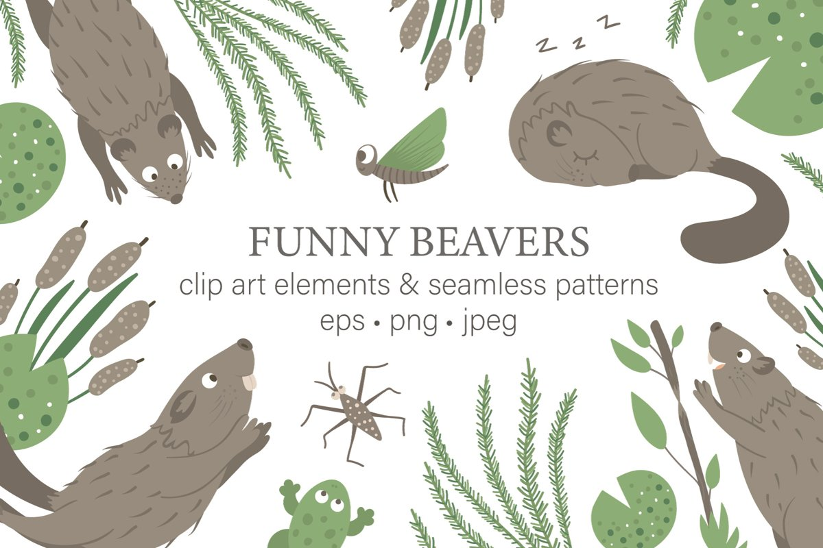 Funny Beavers example image 1