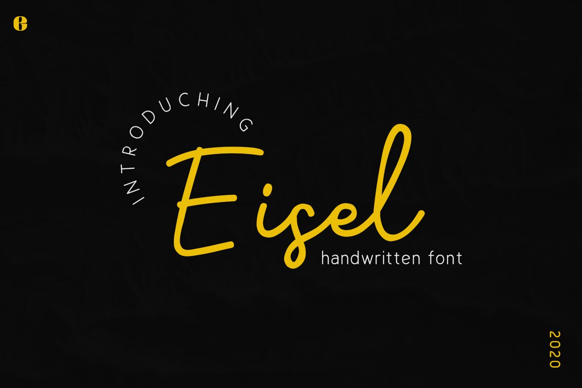 Eisel | Handwritten Font example image 1