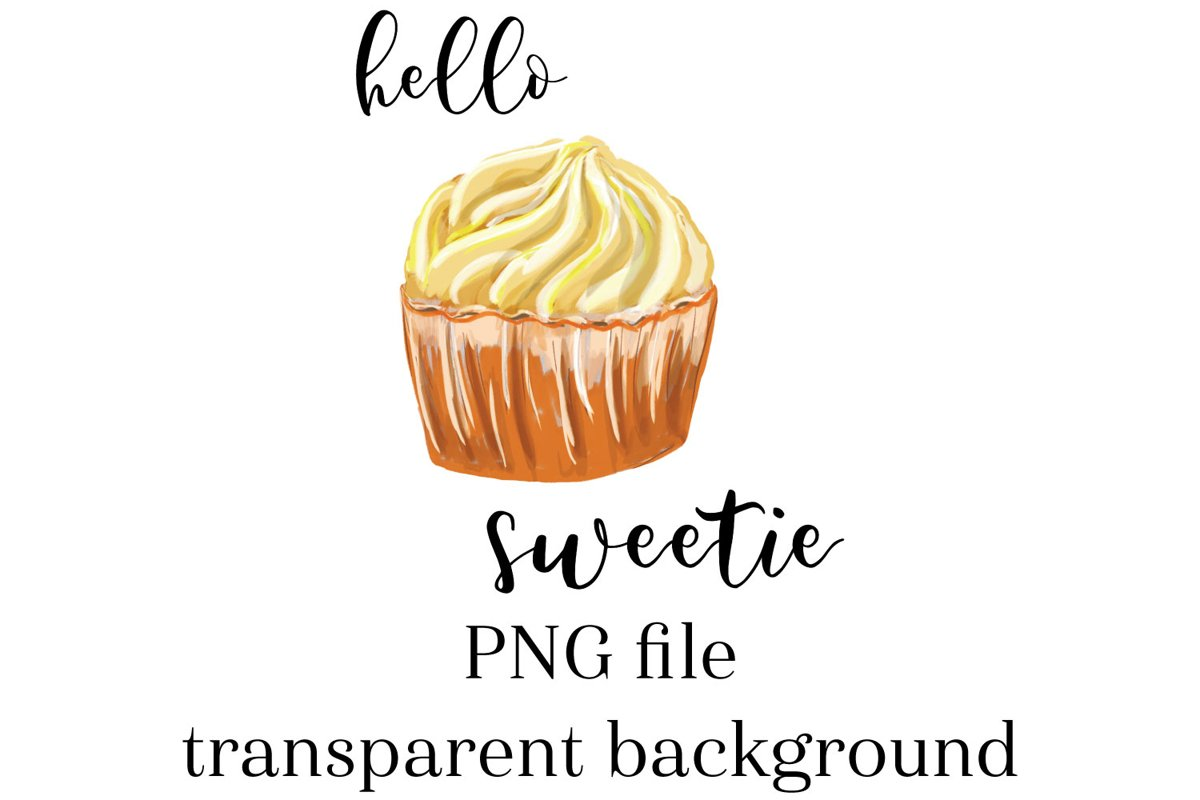 Cupcake Sublimation, hello sweetie cupcake PNG example image 1