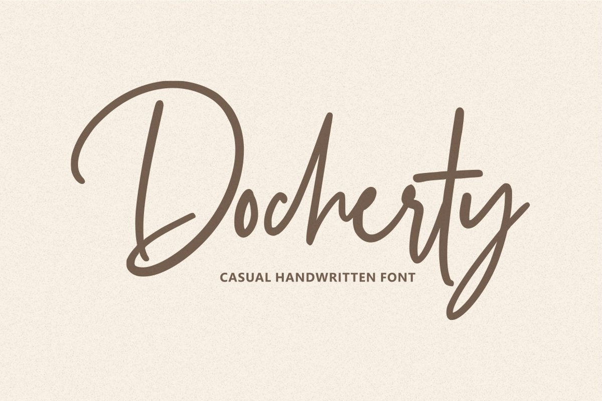 Docherty - Casual Signature Font example image 1