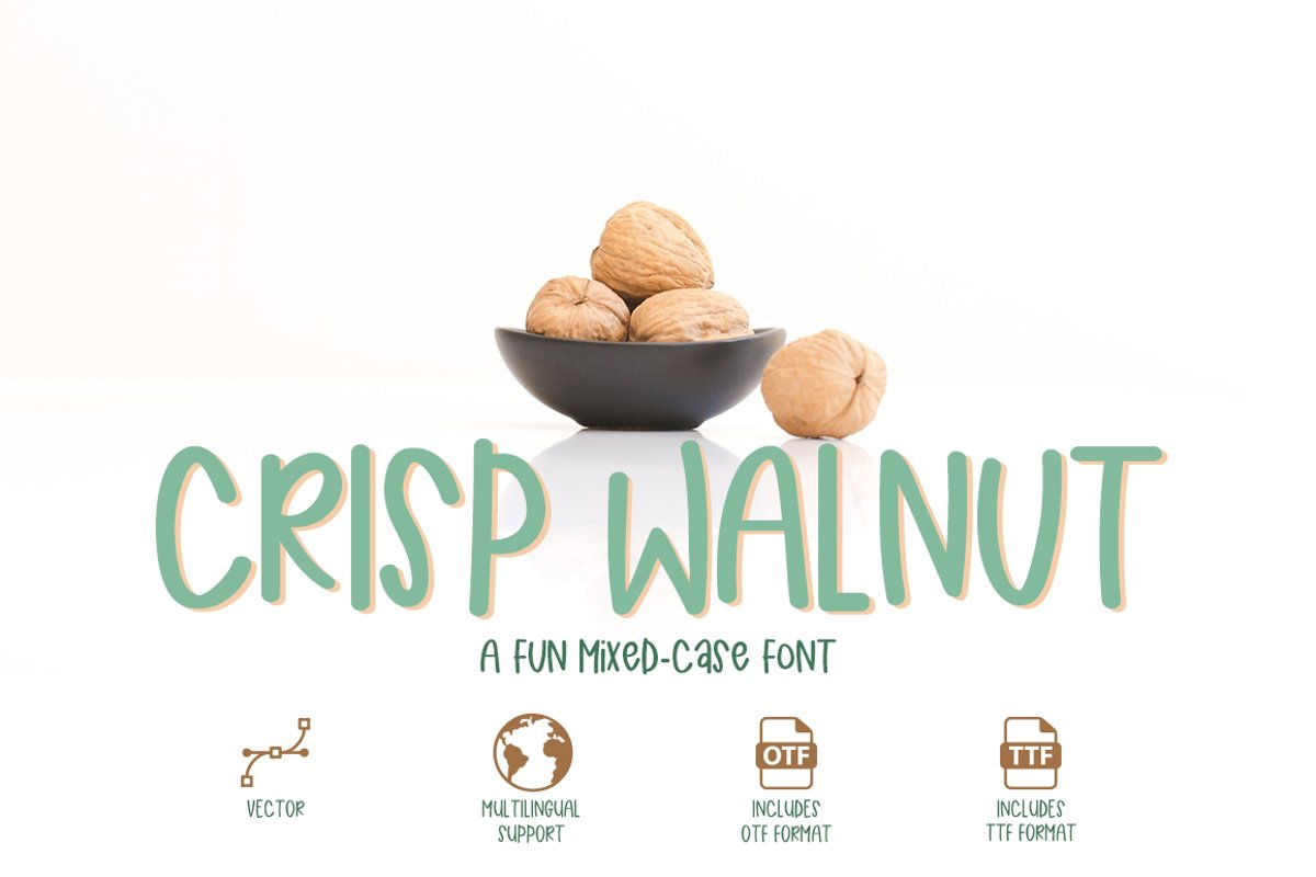 Crisp Walnut - a quirky mixed-case font example image 1