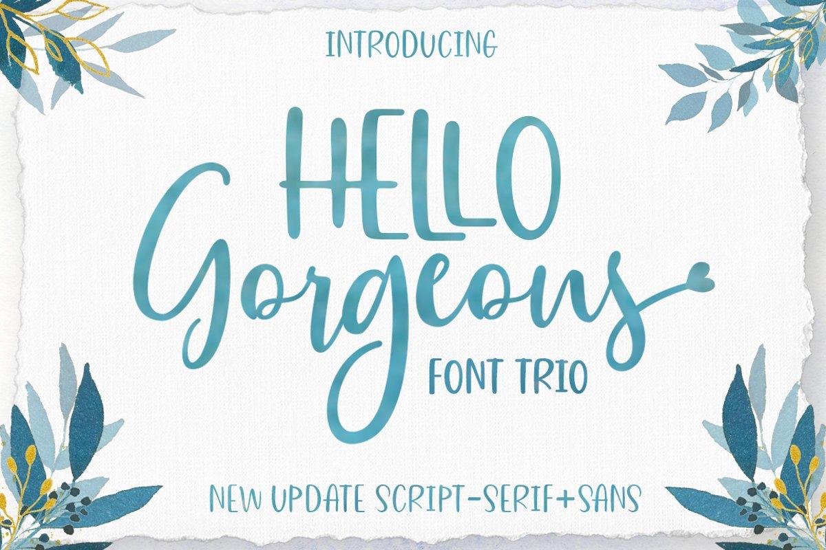 Gorgeous Script Font Trio example image 1