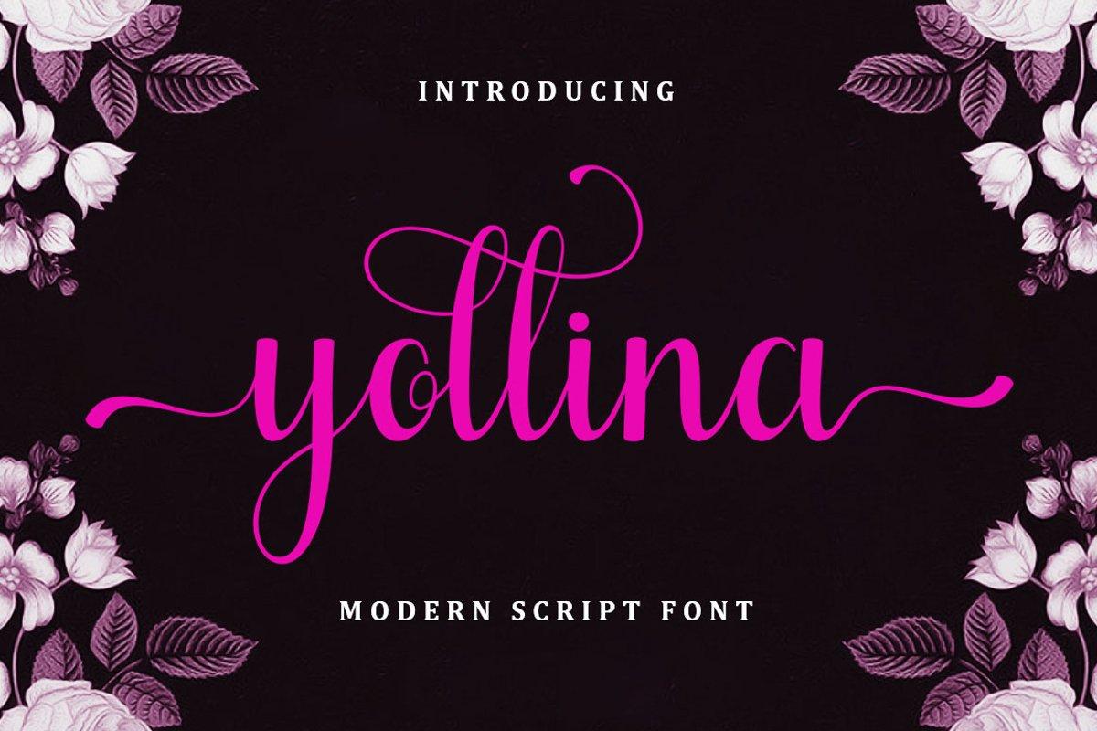 Yollina - Modern Script example image 1