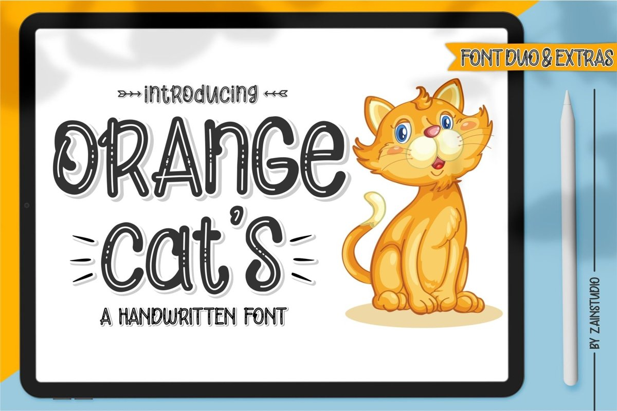 Orange Cats Display Font example image 1