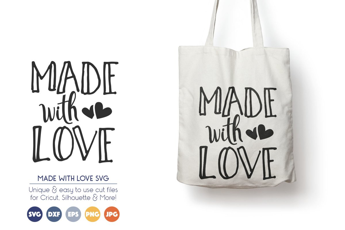Made with Love - Crafters SVG Files example image 1