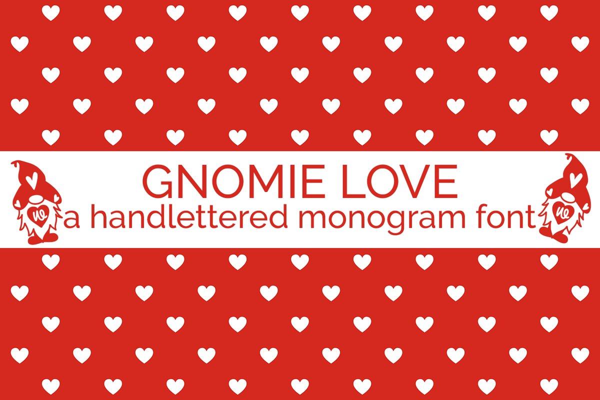 Gnomie Love - A Valentine's Day Monogram Font example image 1