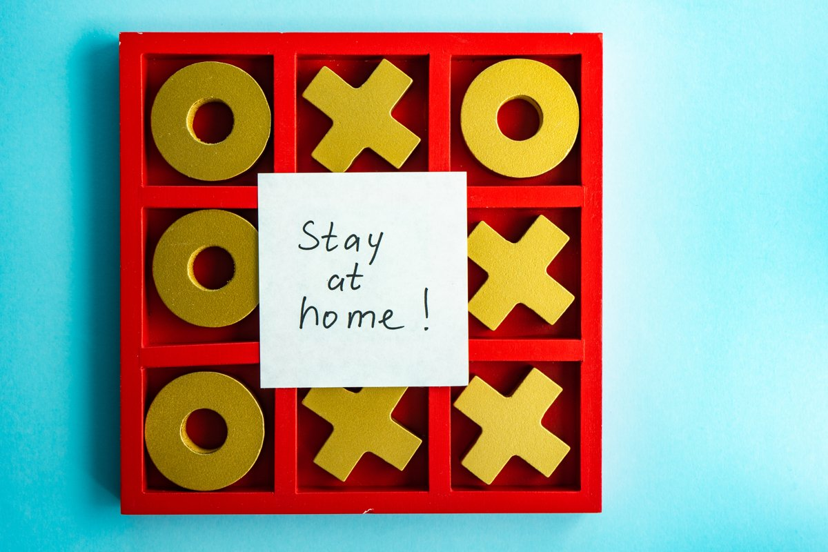 Stay home concept example image 1