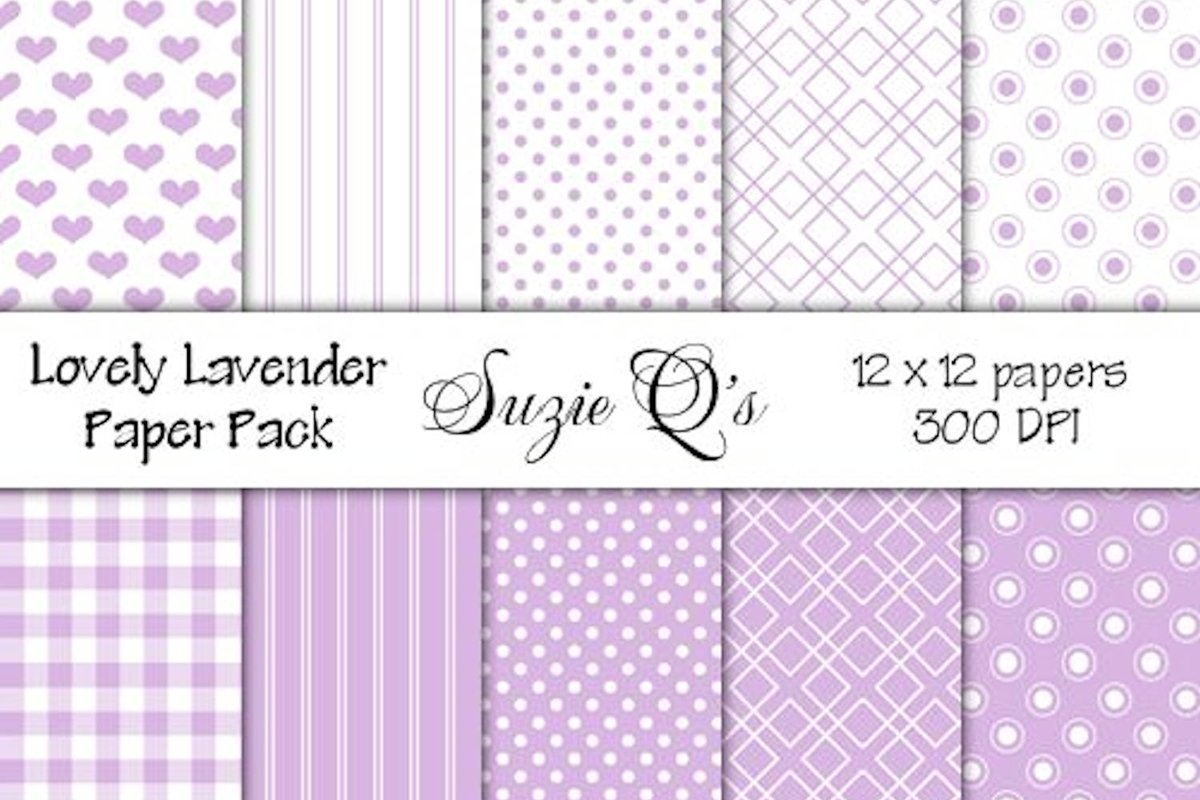 Lovely Lavender Paper Pack example image 1