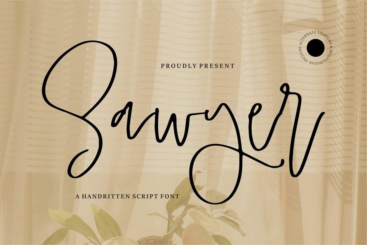 Sawyer - A Handwritten Script Font example image 1