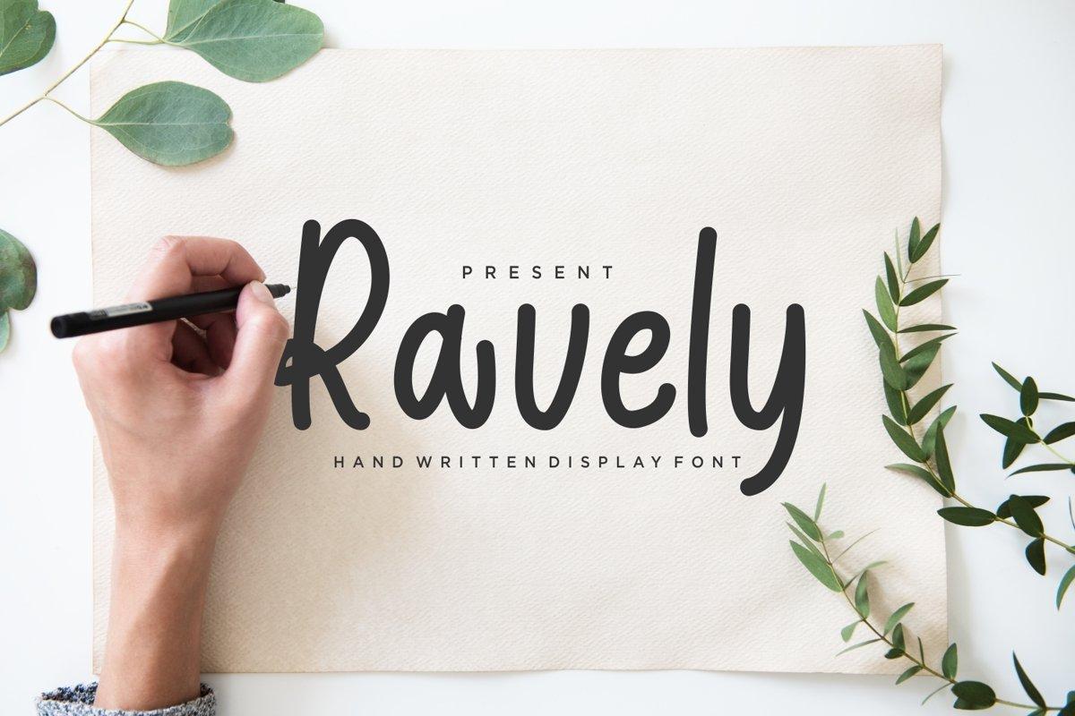 Ravely - Lovely Handwritten Font example image 1