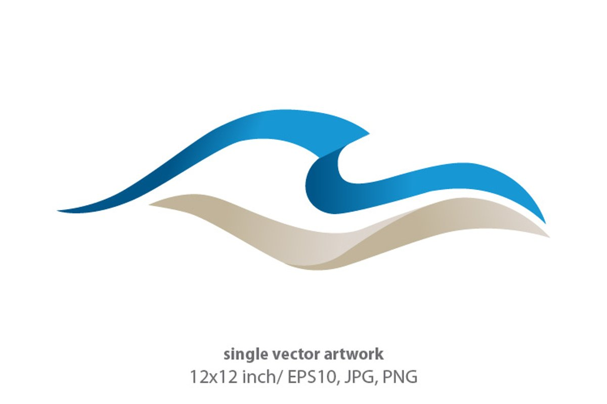 Ocean waves - single vector artwork example image 1