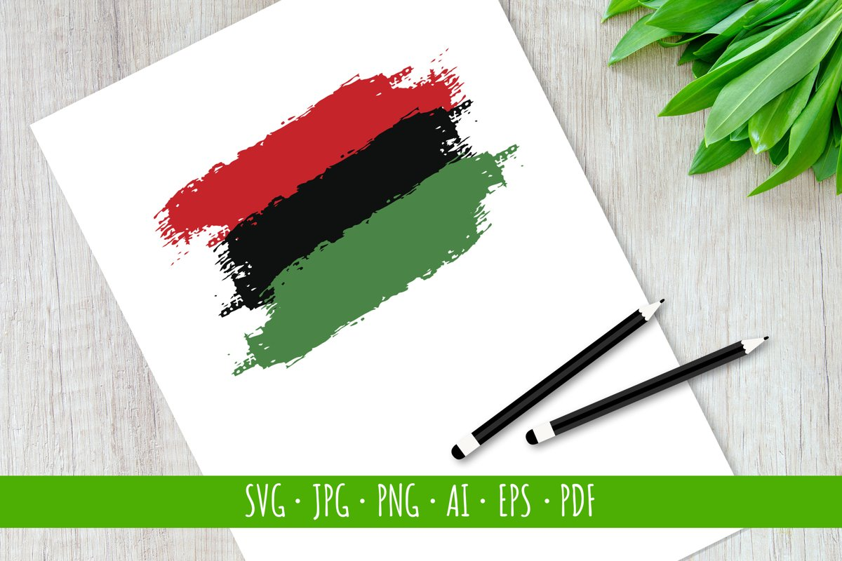 Hand draw Juneteenth Freedom Day flag in vector format, svg example image 1