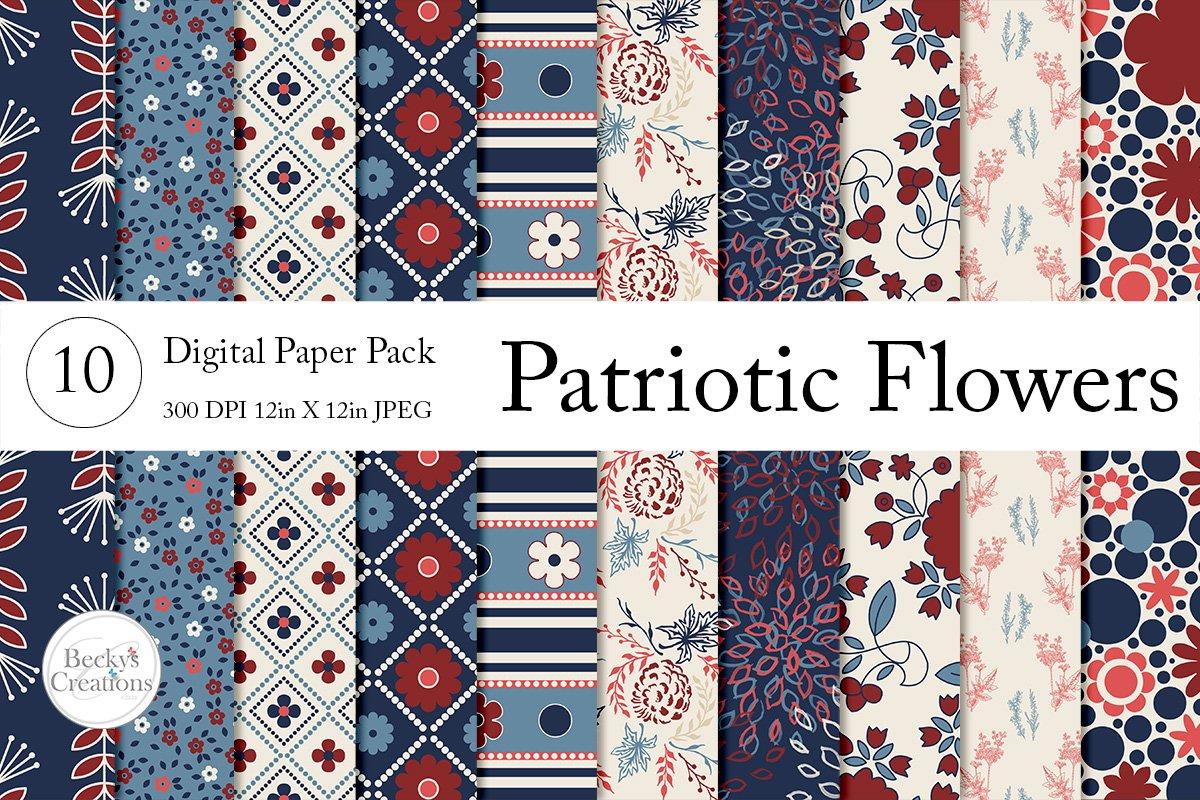 Patriotic Flower Paper Pack example image 1