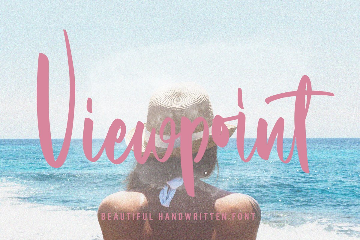 Viewpoint - Beautiful Handwritten Font example image 1