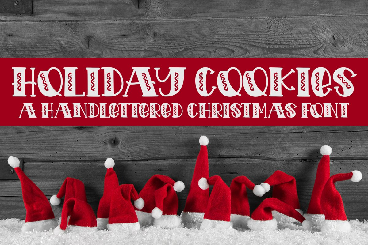 Holiday Cookies - A Hand-Lettered Christmas Font example image 1
