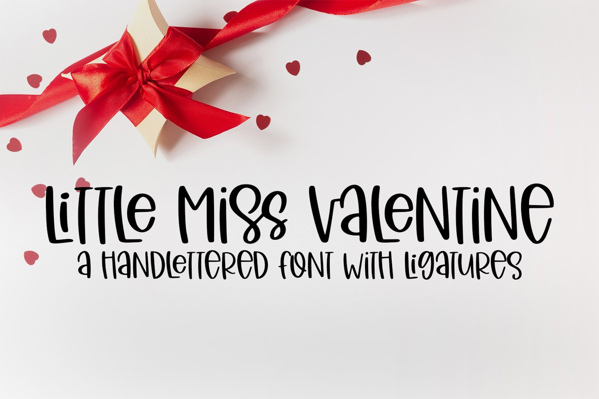 Little Miss Valentine - A Hand-Lettered Valentine's Day Font example image 1