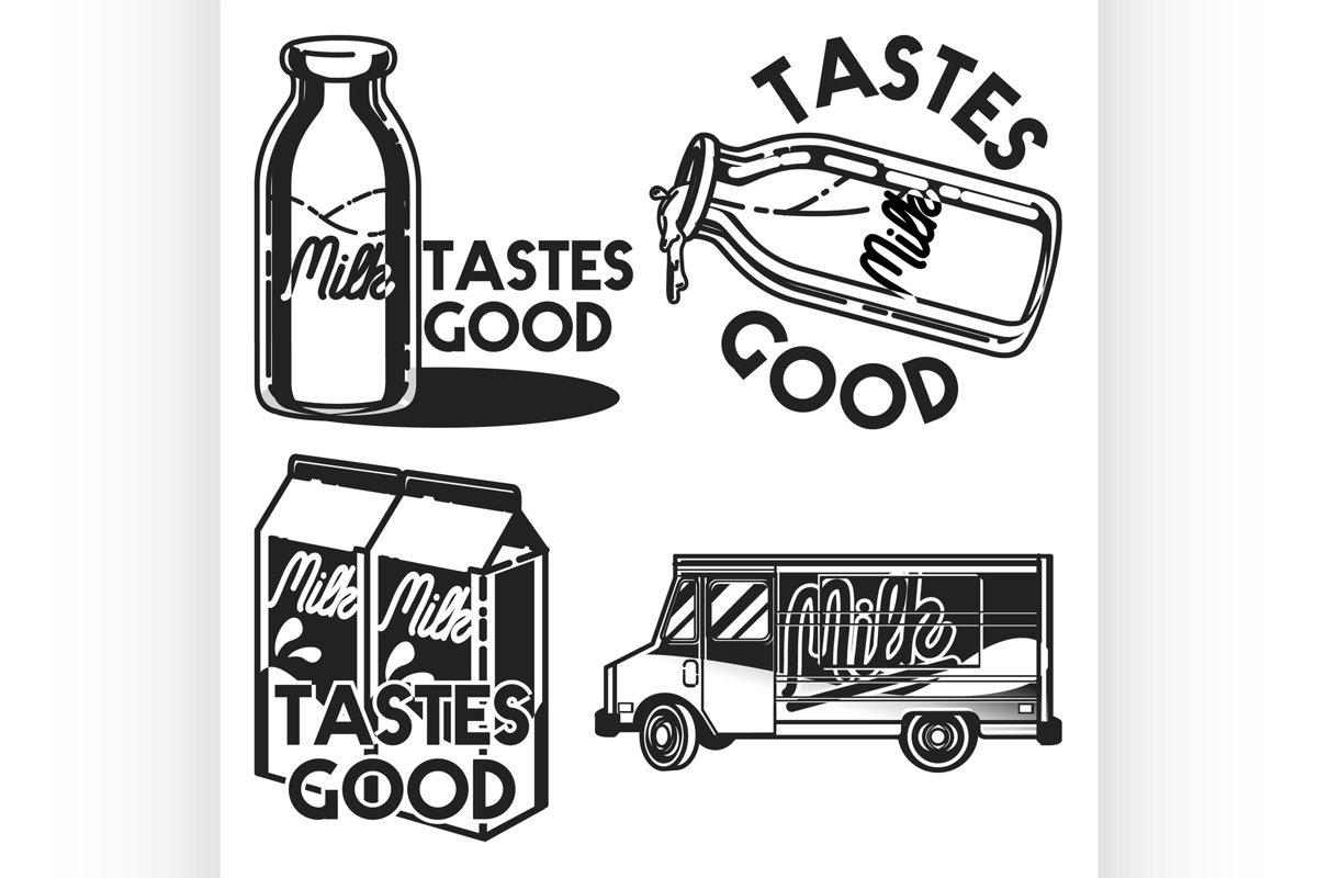 Vintage milk emblems example image 1