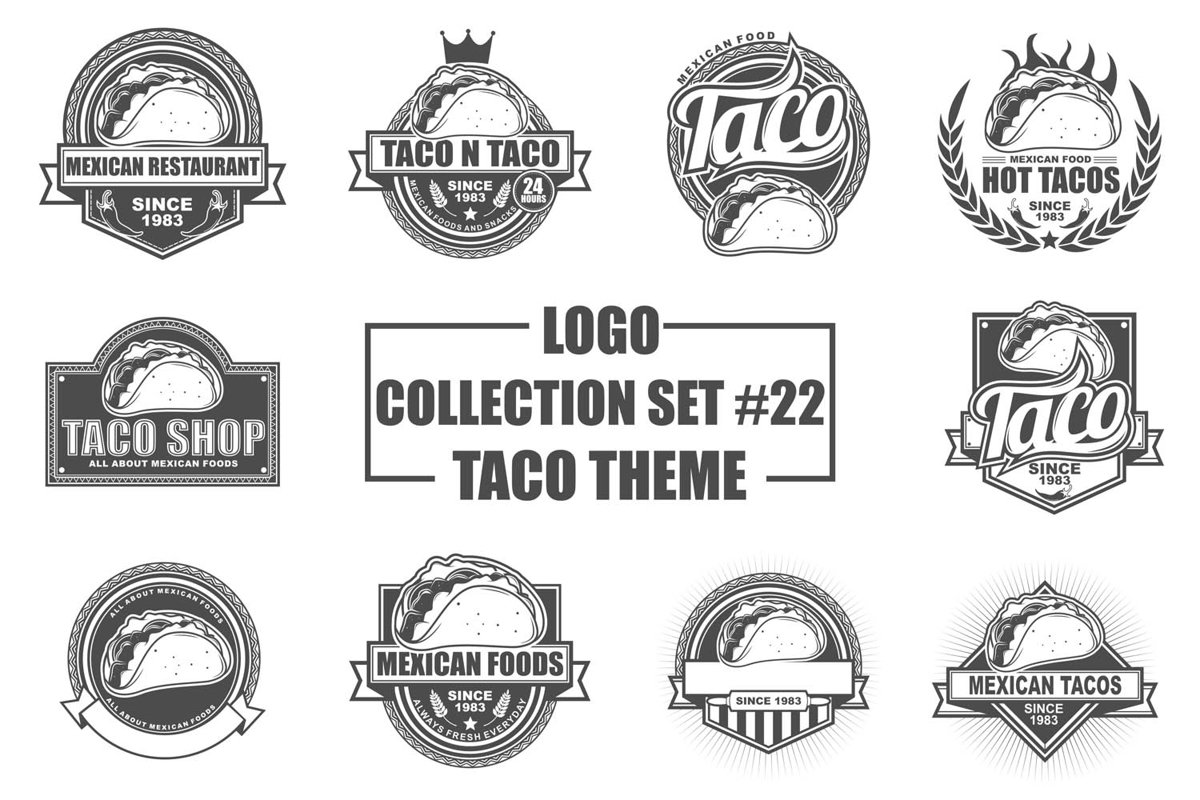 Logo Collection Set with Taco Theme example image 1