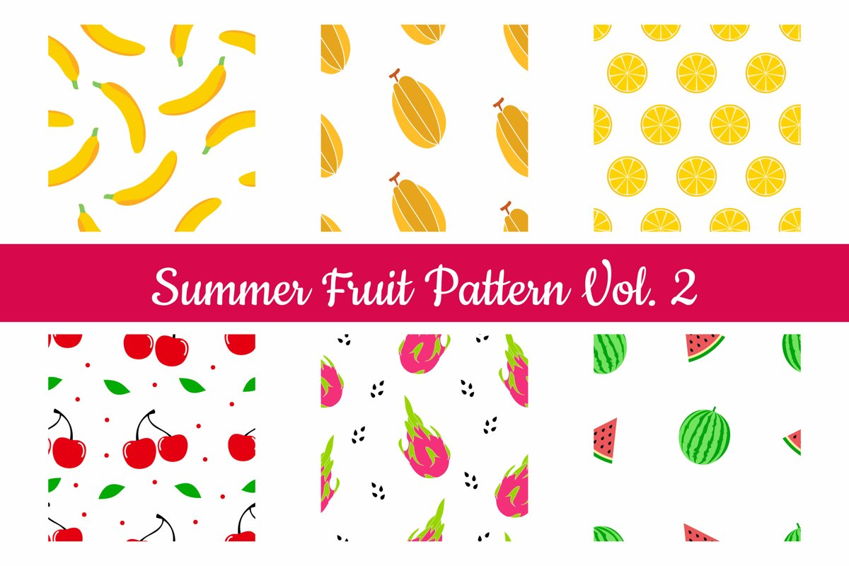 Summer Fruit Seamless Pattern Vol. 2 example image 1