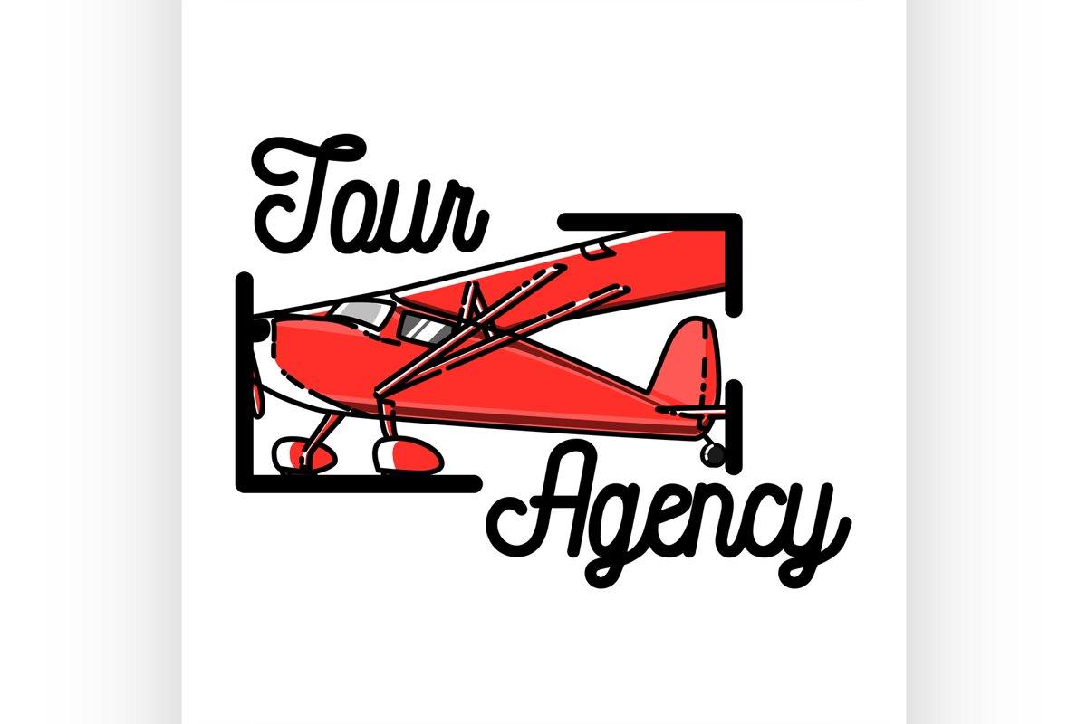 Color vintage tour agency emblem example image 1