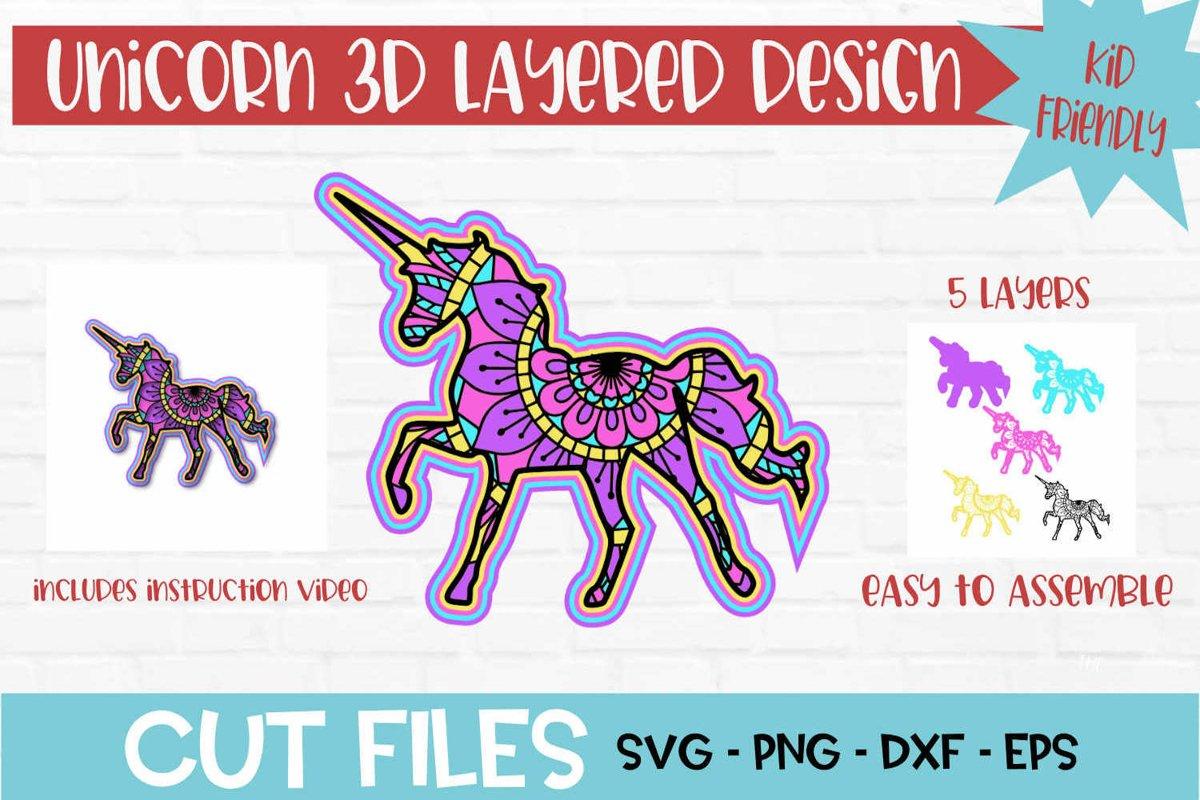180+ Layered Unicorn Mandala Svg – SVG Bundles
