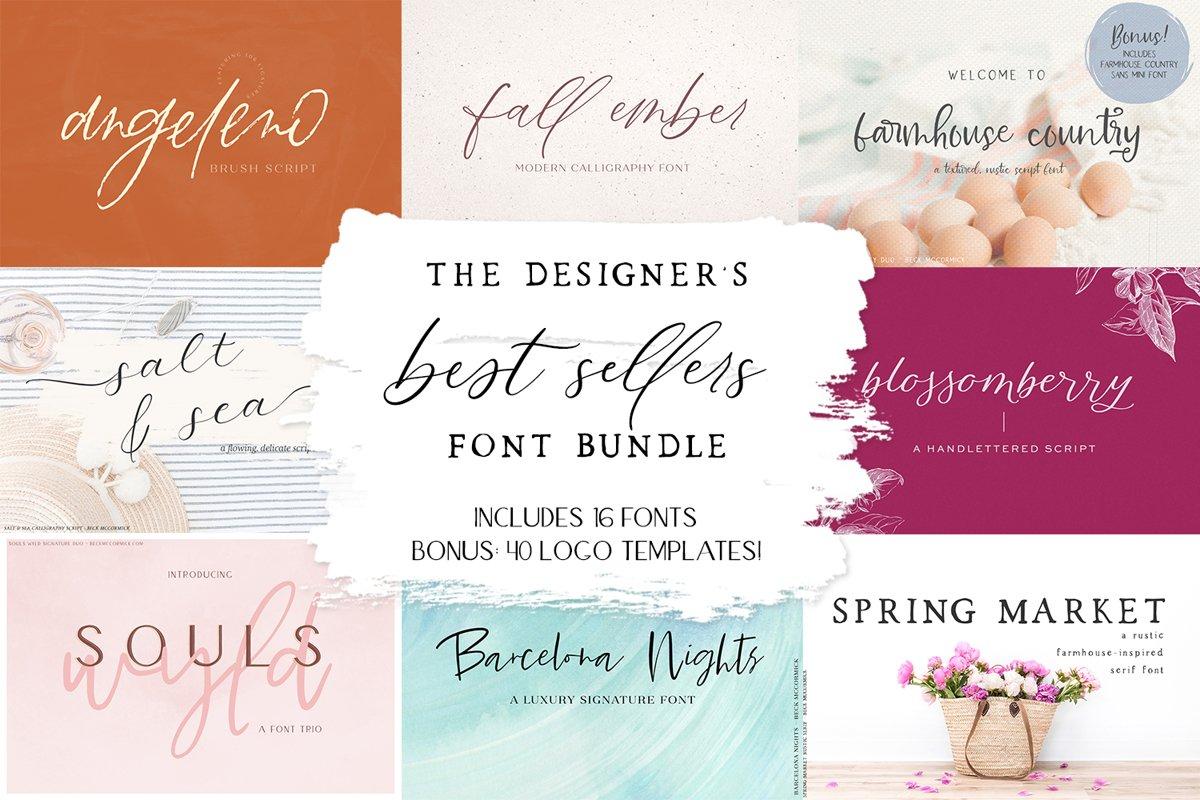 The Designer's Best Sellers Font Bundle example image 1