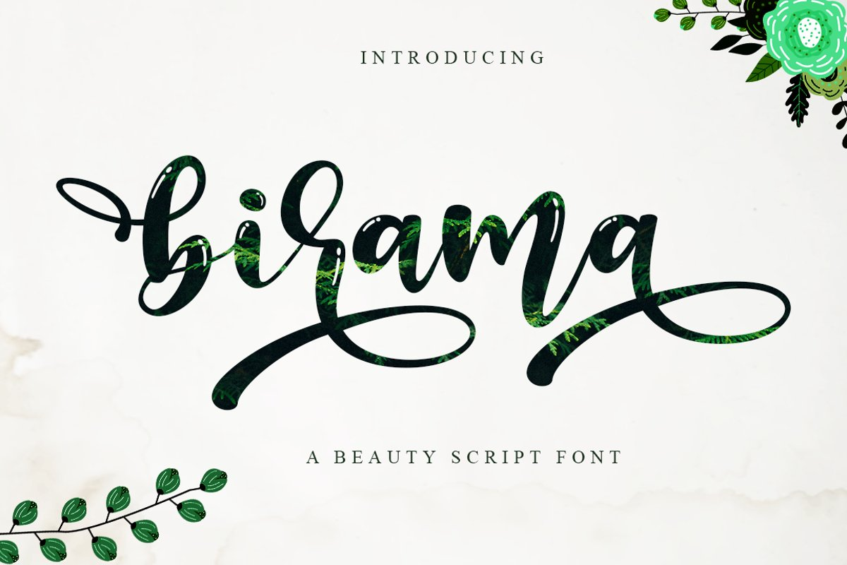 Birama a Beauty Modern Calligraphy Script example image 1