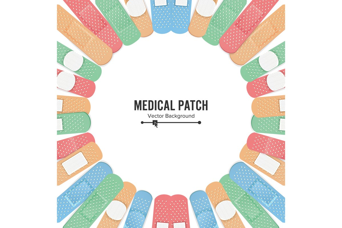 Medical Patch Vector. First Aid Band Plaster Strip Medical example image 1