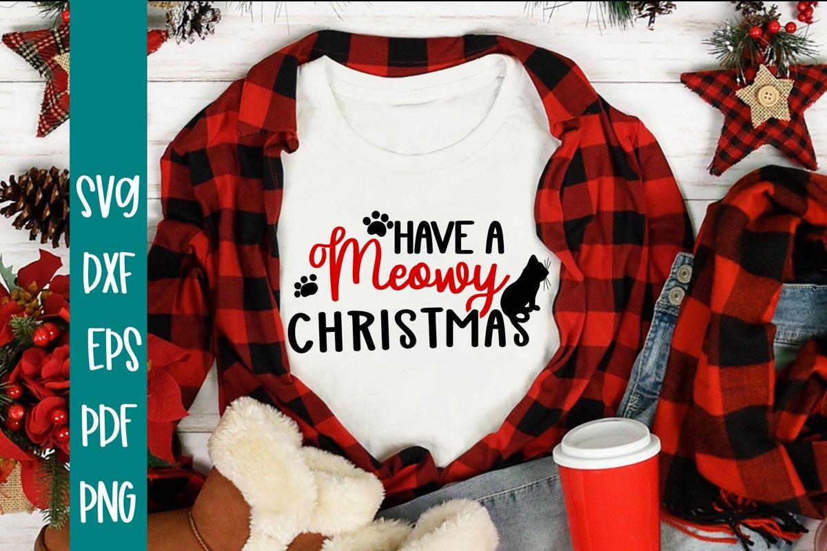 Meowy Christmas SVG - Funny SVG example image 1