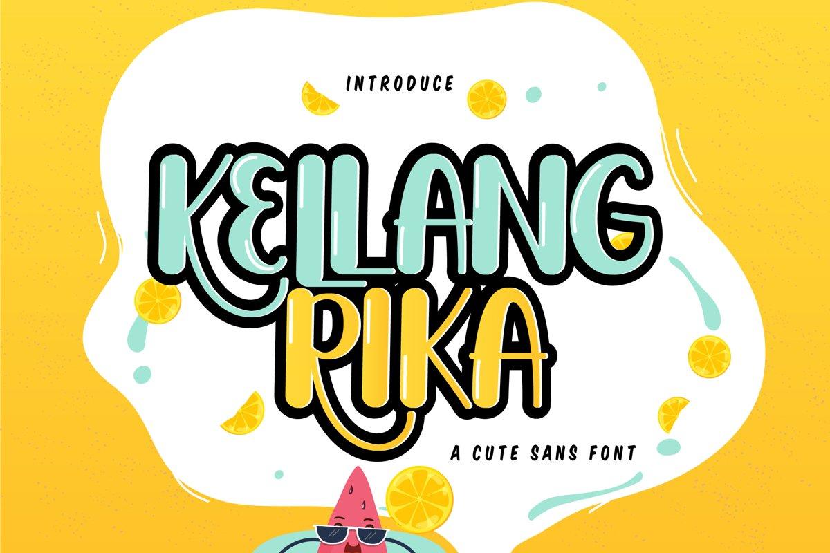Kellang Rika | Cute Sans Font example image 1