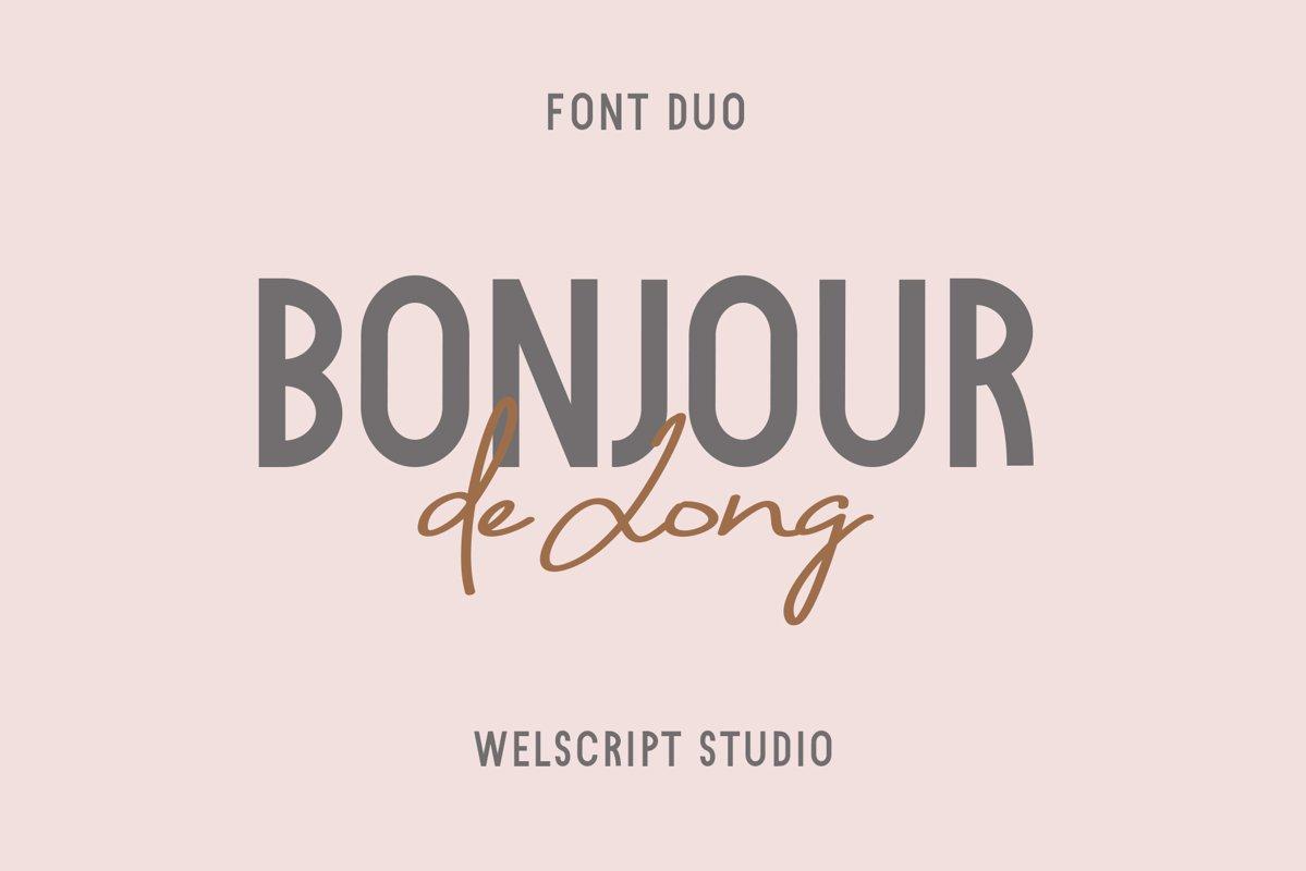 Bonjour de Jong - Font Duo example image 1